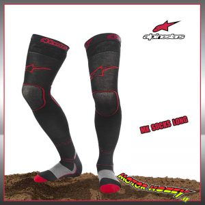 Alpinestars MX Pro Calzini Motocross Nero//Rosso