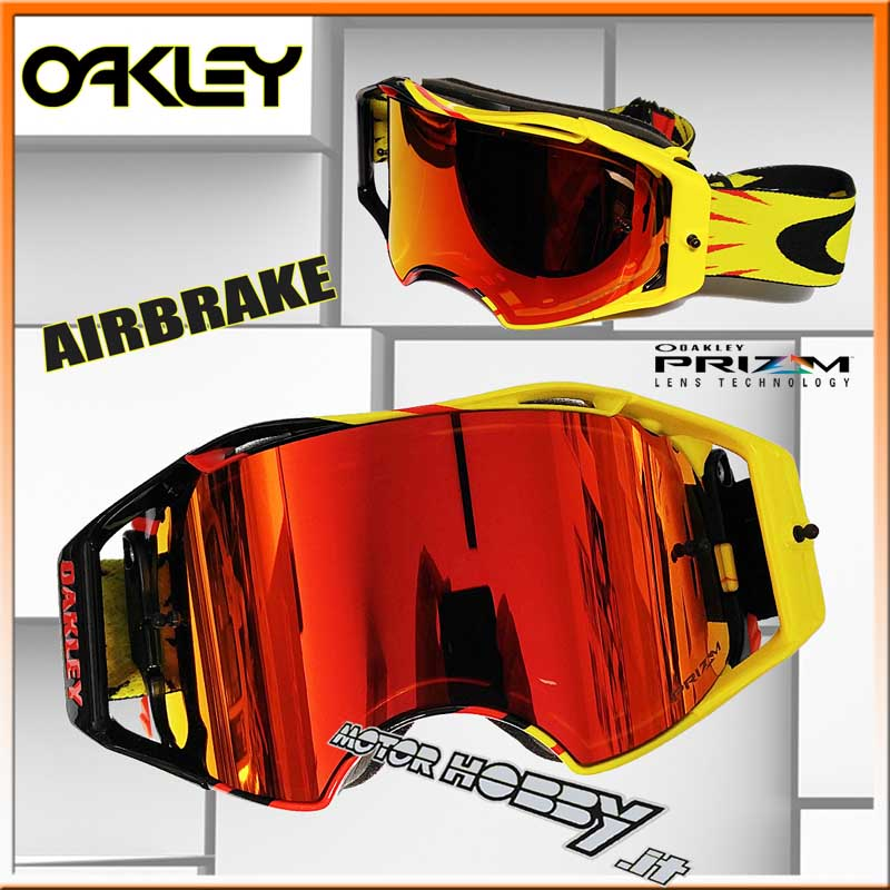Oakley Airbrake Enduro Prizm High Cross Voltage Red Maschera Mx EHqaw6BtBx