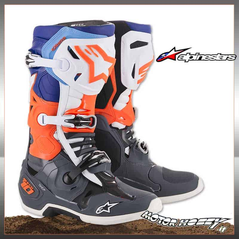 Stivale da cross enduro Alpinestars in pelle Tech 1