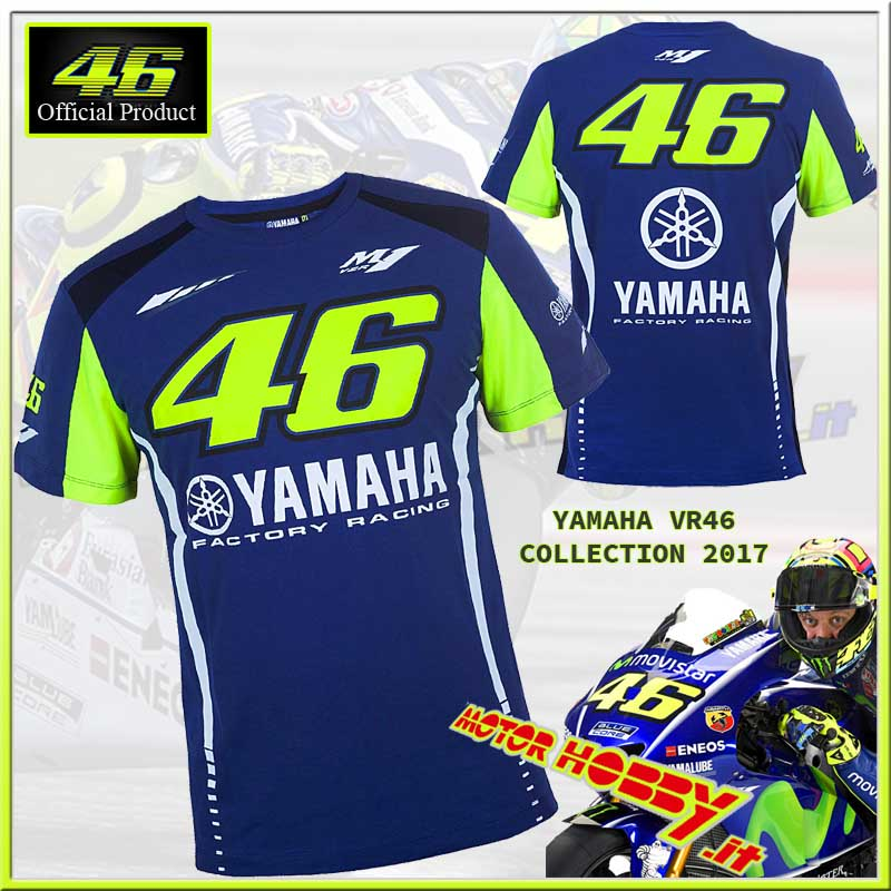 46 Vr Dual 2017 Shirt T Cotone Valentino Yamaha Originale Vr46 dtrhQsC
