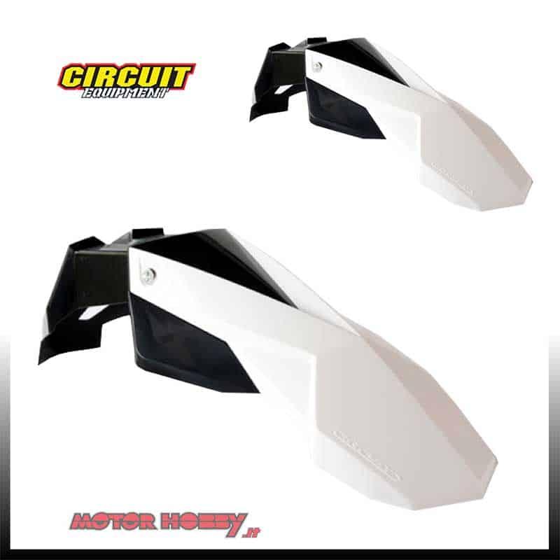 RACETECH Parafango Anteriore Universale SUPERMOTARD Bianco